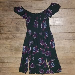 Patrons of Peace Green and Floral Maxi Dress Sz M